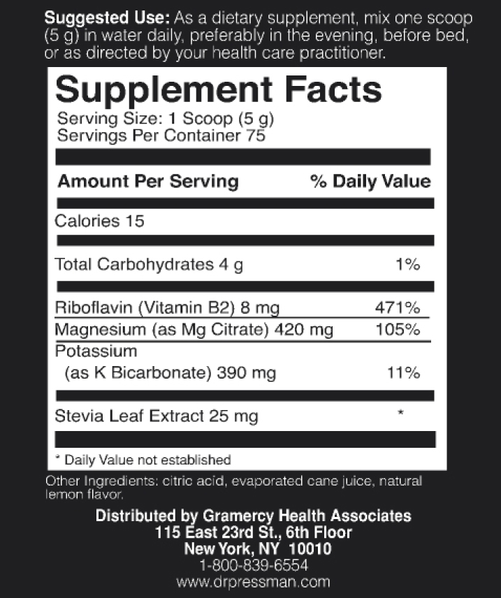 Appetite Control Support Supplement Facts