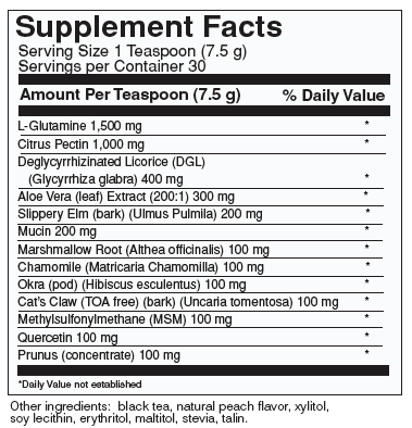 G.I. Repair Supplement Facts
