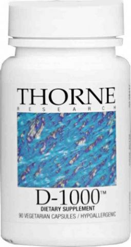 Thorne Vitamins D 1000, 90 Caps