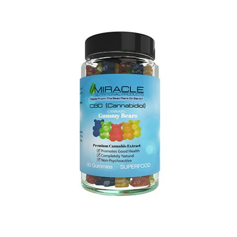 Miracle CBD Gummies, 30 Count