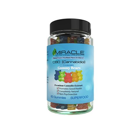 Miracle CBD Gummies, 60 Count