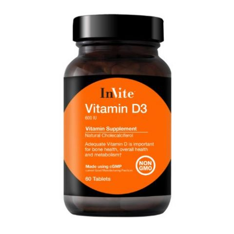 Vitamin D3 600 IU (60 Tablets)
